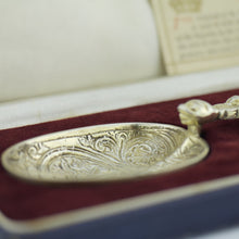 245mm Antique 1936 Sterling silver anointing spoon made by Charles Edwin Turner from Birmingham