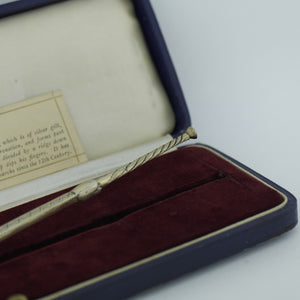 Antique 1936 Sterling silver anointing spoon 245mm made by Charles Edwin Turner from Birmingham