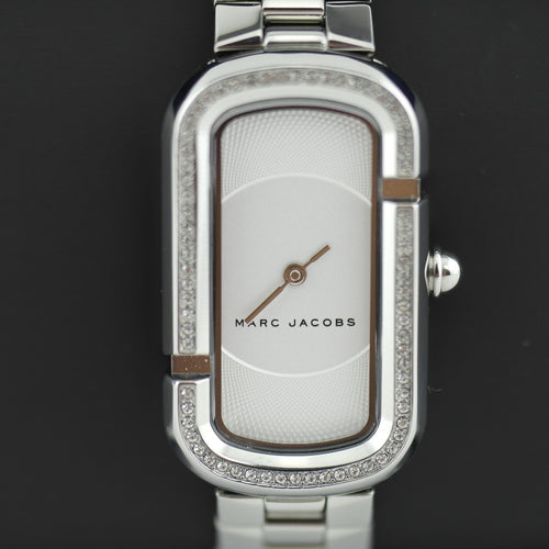Marc Jacobs ladies white dial silver plated wrist watch