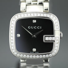 Load image into Gallery viewer, Elegant Gucci ladies wrist watch with 1.01 ct Diamonds encrusted bezel G