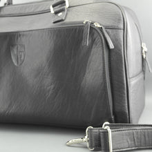 Load image into Gallery viewer, Underwood & Tanner Sport Large Genuine Leather Holdall Travel Overnight Black