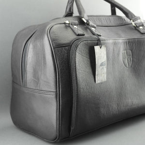 Underwood & Tanner Sport Large Genuine Leather Holdall Travel Overnight Black