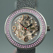 Load image into Gallery viewer, Constantin Weisz Skeleton Automatic wristwatch with pink encrusted bezel