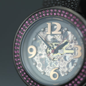 Constantin Weisz Skeleton Automatic wristwatch with pink encrusted bezel