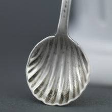 Load image into Gallery viewer, Antique 1866 sterling silver spoon salt Birmingham Hilliard Thomason 19thC