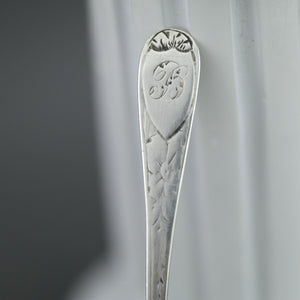 Antique 1866 sterling silver spoon salt Birmingham Hilliard Thomason 19thC