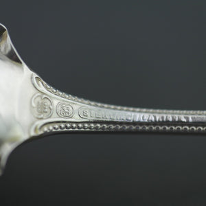 Antique 1885 Sterling silver desert spoon USA 925 Antique