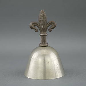 Antique reception bedroom iron bell with Royal flower handle