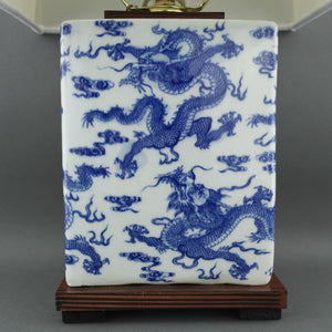 Ralph Lauren Chinese Porcelain Dragon Blue & White Meredith Table Lamp