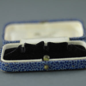 Antique blue box for dress studs British Empire Manchester W.B. Pidduck & Son