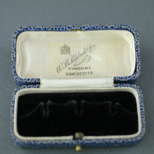 Load image into Gallery viewer, Antique blue box for dress studs British Empire Manchester W.B. Pidduck & Son