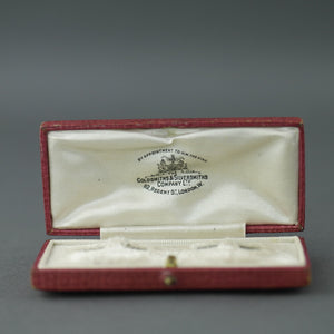 Antique red box for cufflinks British Empire London Goldsmiths and Silversmiths Company Ltd