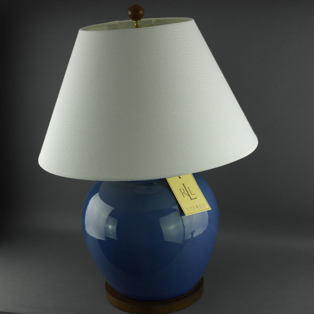 Ralph Lauren Chinese Porcelain Monochrome Powder Blue Meredith Table Lamp