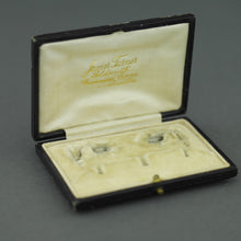 Load image into Gallery viewer, Antique box for set of cufflinks and studs James Turner Goldsmith Cavendish Circus Buxton