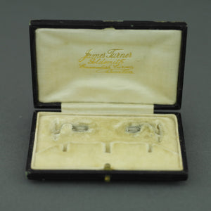 Antique box for set of cufflinks and studs James Turner Goldsmith Cavendish Circus Buxton