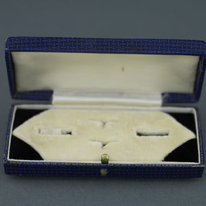 Antique box for set of cufflinks and stud made in British Empire