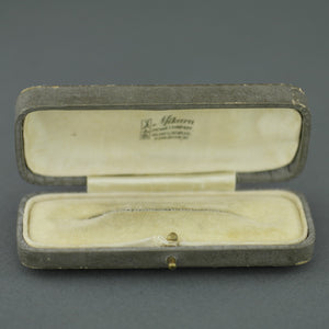 Antique box for pin brooch made in British Empire London for Mikara Pearl Company