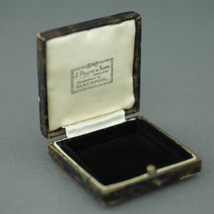 Antique box for brooch, watch jewellery made in British Empire, Blackpool, J. Payne and Sons