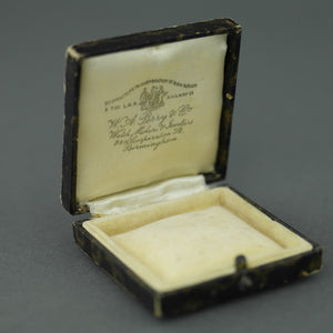 Antique box for brooch, coin, watch jewellery British Empire Birmingham W. A. Perry & Co
