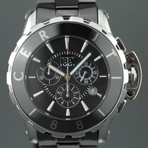 Cerruti 1881 Swiss Men's Chronograph watch with black ceramic band