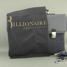 Billionaire Couture Genuine Leather Business Bag Royal Blue
