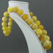 Load image into Gallery viewer, Elegant German Natural Baltic Amber beads rare necklace in cloudy egg yolk and white colour