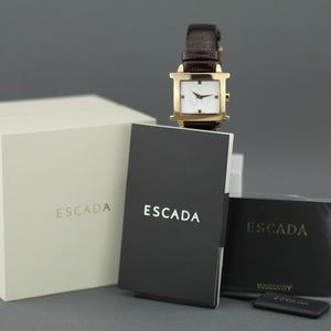 ESCADA wrist watch Estelle line with Swiss Ronda movement and leather strap