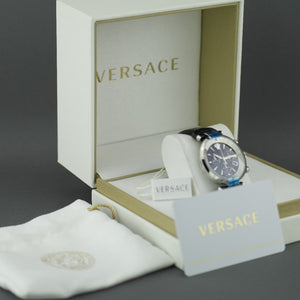 Versace Revive Chronograph analog Mens watch with leather strap