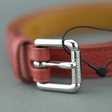 Load image into Gallery viewer, Polo Ralph Lauren Ladies skinny narrow red grained leather belt
