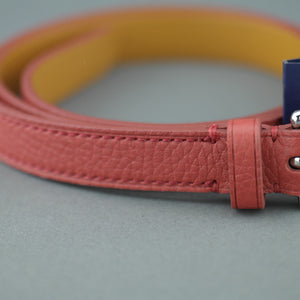Polo Ralph Lauren Ladies skinny narrow red grained leather belt