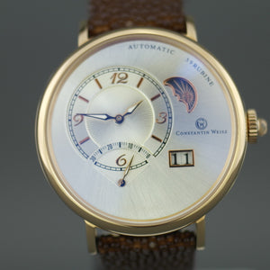 Limited Edition Constantin Weisz Automatic Gents Watch 39 jewels leather strap