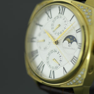 Constantin Weisz Gent's automatic wrist watch with Moon phases and encrusted bezel