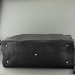 Still Nordic Sport Large Genuine Leather Holdall Travel Overnight Black