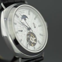 Load image into Gallery viewer, Constantin Weisz Gent's automatic open heart wrist watch with black leather strap