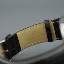 Constantin Weisz Gent's automatic open heart wrist watch with black leather strap