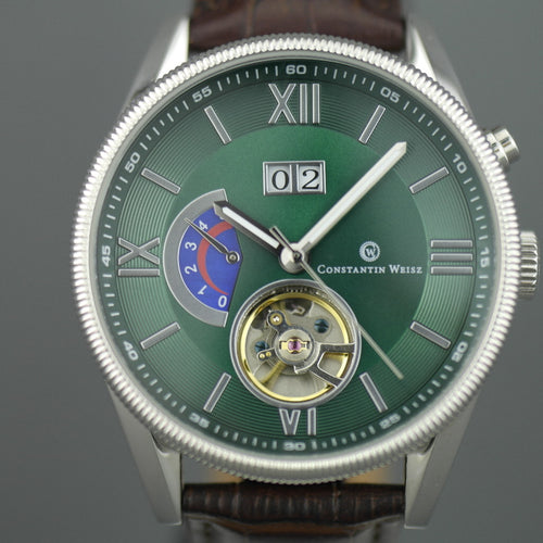 Constantin Weisz Gent's automatic 22 jewels open heart wrist watch