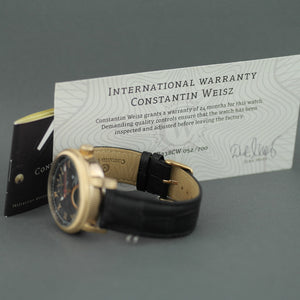 Limited Edition Constantin Weisz Gent's automatic gold plated dual time wrist watch