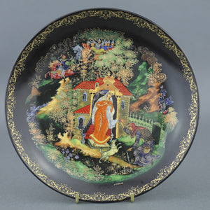 The Dead Princess and the Seven Knights Russian tales Plate Porcelain, Wall Decor