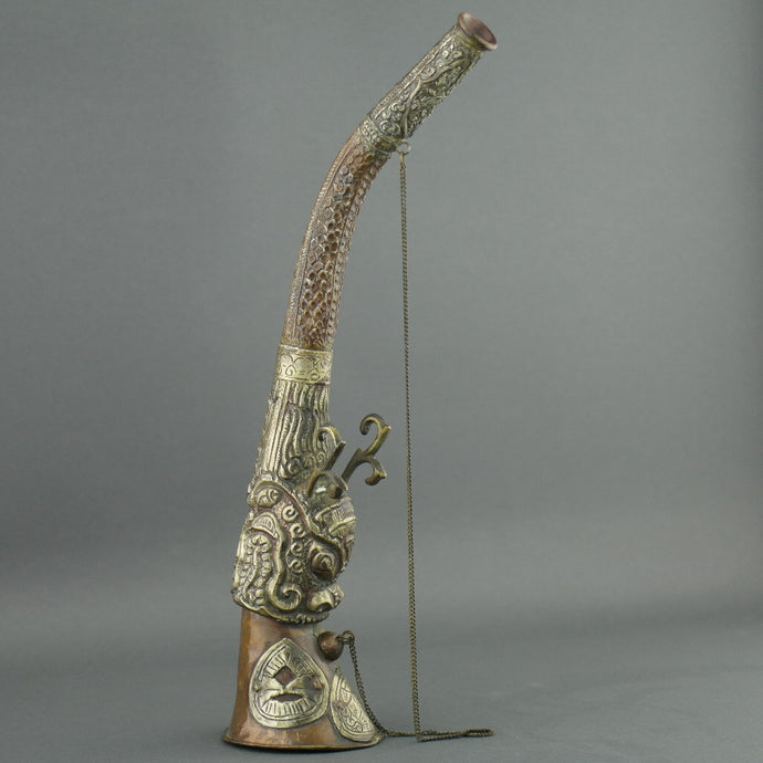 China ritual dragon horn ancient style wall decor