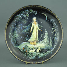Load image into Gallery viewer, Wall Decor Russian tales plate - The Snow Maiden - from Kholui Art Studio