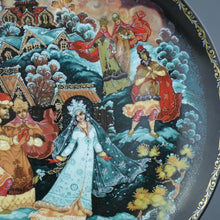 Load image into Gallery viewer, Wall Decor Russian tales plate - The Snow Maiden and Her Parents - from Kholui Art Studio