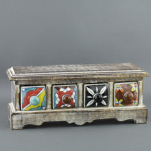 Load image into Gallery viewer, Wooden chest of draw with ceramic drawers for Tea bags