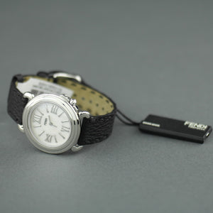 Fendi Selleria Nacre dial Swiss wrist watch with leather strap