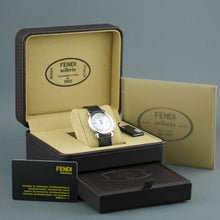 Load image into Gallery viewer, Fendi Selleria Nacre dial Swiss wrist watch with leather strap
