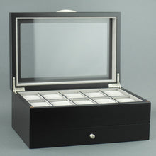 Load image into Gallery viewer, Luxury Mele & Co storage black box for 10 watches