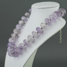 Load image into Gallery viewer, Sunning sterling silver necklace with huge purple amethyst beads