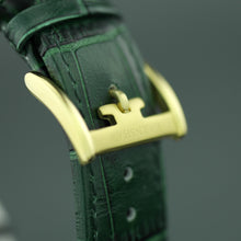 Thomas Earnshaw Darwin Automatic wrist watch with Green British Racing leather strap