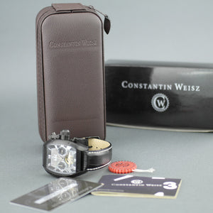Constantin Weisz Automatic open heart wrist watch with Nacre MOP dial