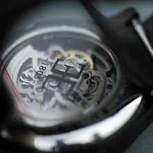 Load image into Gallery viewer, Thomas Earnshaw Beagle Skeleton Automatic Woolwich Edition wrist watch with leather strap