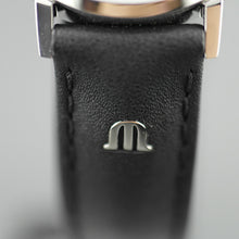 Maurice Lacroix Swiss Ladies Eliros wrist watch with Leather Strap and Black Dial